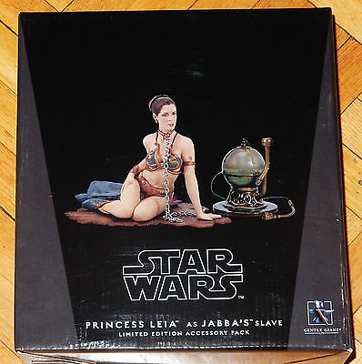 Star Wars Statue Gentle Giant Princess Leia As Jabba's Slave Accessory Pack Rare