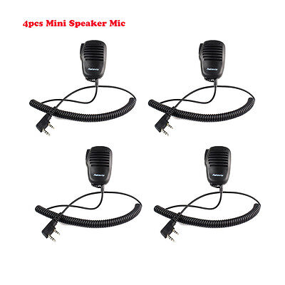 4 × Retevis 2Pin Mini PTT Speaker Mic For Retevis H777 Kenwood TH Baofeng HYT US