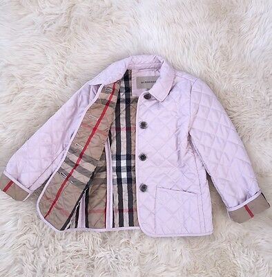 Authentic Girl Burberry Kids Pink Nova Check Jacket Coat 6Y