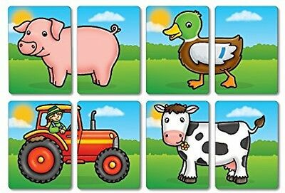 Orchard Toys Farmyard Heads And Tails Wipe Clean Matching Memory Skill Game
