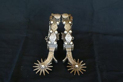 California Silver Spurs / Marked Franco