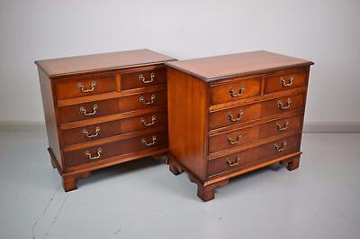 (1 of 2) Antique Georgian Style Mahogany Five Drawer Chests of Drawers 1 SOLD