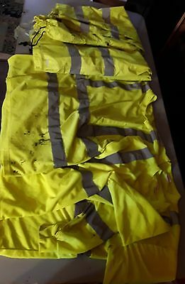 used reflective clothing lot shirts shirt pants neon road crew saftery yellow