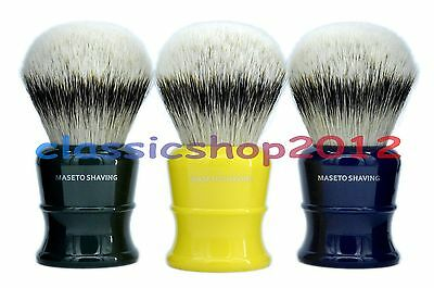 MS - 100% Silver Tip Badger Hair Shaving Brush & Classic B&B&G Handle 30mm Knot