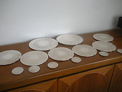 VINTAGE SILVER PLATED TABLE MATS Placemats