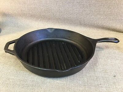 """Lodge Usa Cast Iron 11"""" Griddle / Skillet With Helper Handle #9Tb"""