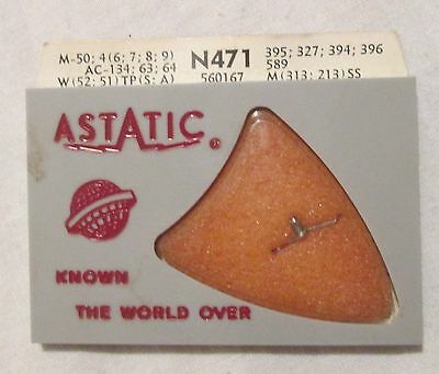 Sealed NOS ASTATIC Phonograph Stylus # N471 -- New Old Stock, Sapphire, Magnavox