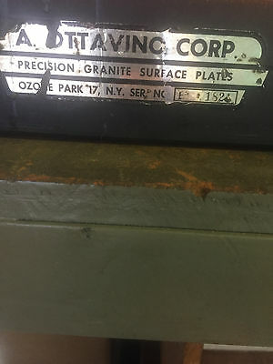 """24"""" x 18"""" x 3"""" THICK GRANITE SURFACE INSPECTION PLATE, USED, IN GOOD CONDITION"""