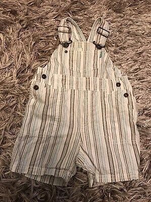 Vgc Boys Baby Casual Fashion Dungarees Outfit Age 3-6 Months Clothes Summer