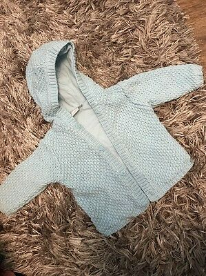 Vgc Boys Baby Knitted Woollen Cardigan Hood Jacket Age 3-6 Months Clothes Cheap