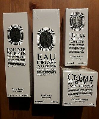 Diptyque creme essentielle+huile infusee+eau infusee+poudre purete neufs