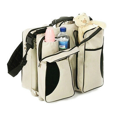 Newborn Baby Multi-Function Folding Travel Crib Bag Diaper Bag Portable Cot Bed
