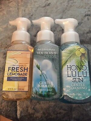 Bath And Body Works 'Fresh Collection' Gentle Foaming Hand Soap 🛁🌿🐚