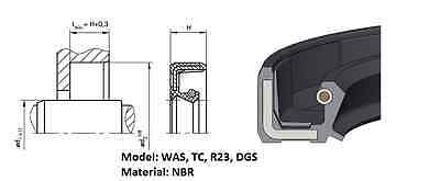 (pack) Rotary shaft oil seal 17 x 37 x (height, model)