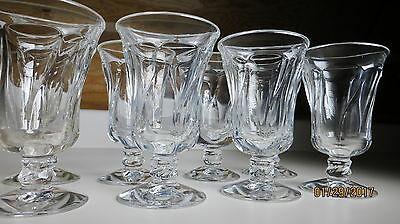 """Fostoria Jamestown Clear 4 7/8"""" Set of 8 Footed Juice Goblets"""
