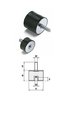 male Anti-vibration damper mounting dia 10mm-60mm dimension,pack male