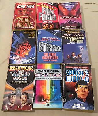 Lot of 9 Star Trek Paperback Books - From the Movies