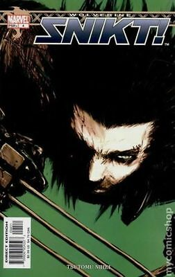 Wolverine Snikt (2003) #4 VF Marvel Comic (MR-8)