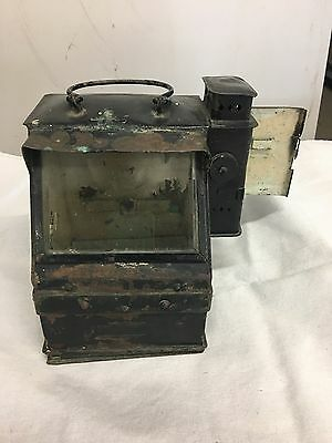 Antique Brass and Copper Navy Ship's Binnacle Housing, Lionel Corporation