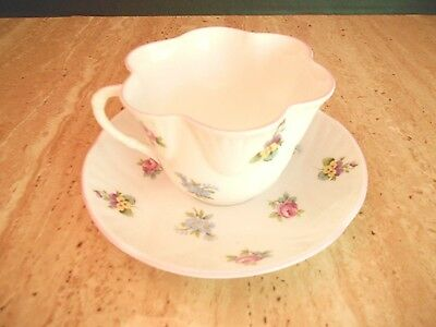 "Vintage Crown Staffordshire Cup/saucer ""royal Bouquet"" Retired"