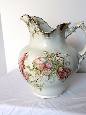 "Antique Maddock's Lamberton Works Royal Porcelain 11.5""  Gold Trimmed Pitcher"