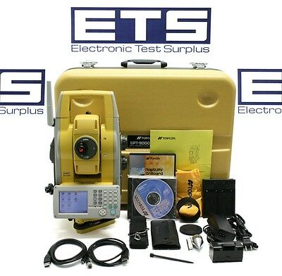"""Topcon GPT-9005A 5"""" Robotic Total Station w/ TopSurv Onboard Installed"""