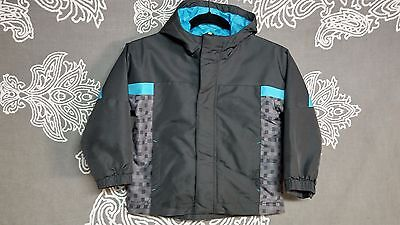 Cherokee Toddler Solid Gray/Blue Winter Rain Coat Jacket Sz T5 100% Polyester