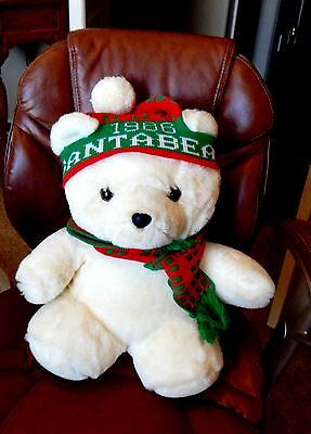 1986 Santa Bear Dayton Hudson with hat and scarf 18""