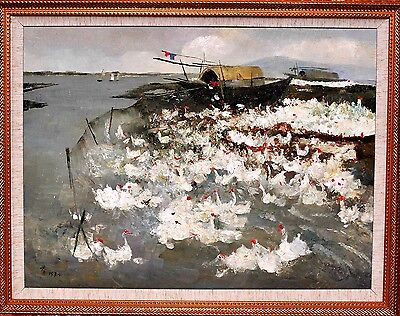 Wu Guanzhong, A Chinese Oil Painting