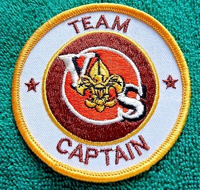 """Boy Scouts Of America Varsity """"team Captain""""  Position Patch 1984-1989"""