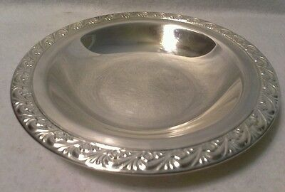 """W.m.rogers 7-1/4"""" Round Silverplated Bowl"""