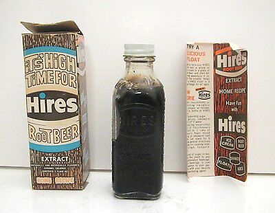 1960s HIRES Extract with Full Bottle, Box & Paper