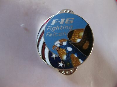 F-16 Fighting Falcon Us Air Force Logo Pin Back