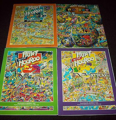 4 HUNT WITH HOOROO BOOKS by MURRAY VAN - MOVIES, I SPY, DOWN UNDER, AT PLAY