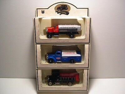 Lot of 3 Lledo Chevron Die Cast Metal Gas Truck Replicas 1/64 Scale Vintage NEW