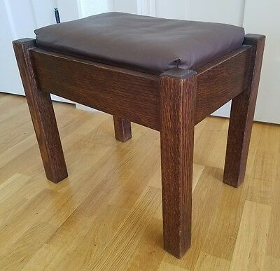 STICKLEY BROTHERS OAK FOOTSTOOL Model 5267 -  Arts & Crafts MISSION ANTIQUE