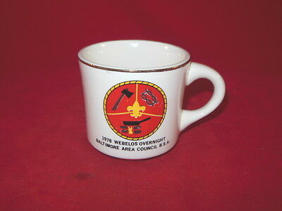1C BSA Boy Scouts America WEBELOS 1978 Baltimore Area Council Coffee MUG 1978