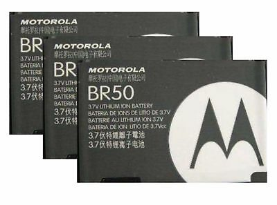 3X Replacement Batteries BR50 for Motorola RAZR V3 V3c V3i V3m V3r V3t PEBL U6