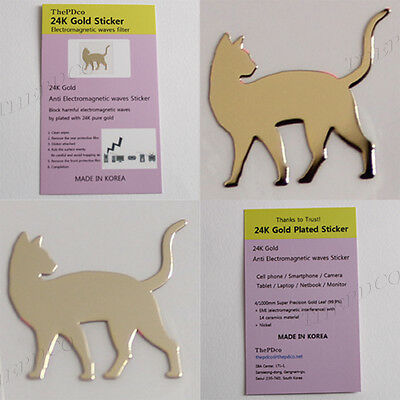 TPD Wholesale 24K Gold Plated Anti Radiation Block Shield Sticker 50 pcs Cat No2