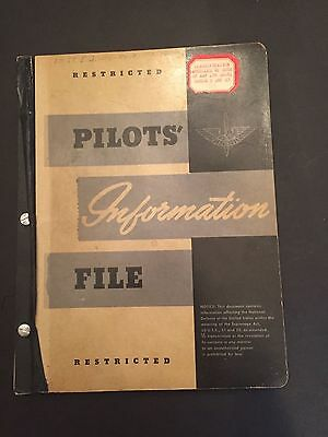 WWII Army Air Force Pilots' Information File 1943 Book ORIGINAL
