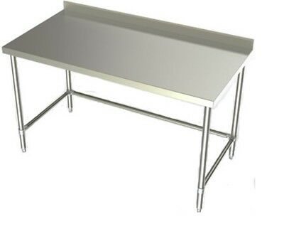 "Stainless Steel Kitchen Restaurant Work Prep Table with Backsplash 28"" x  72"""