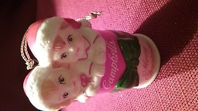 Campbell's Soups ~ 1992 ~ Merry Christmas ~ 2 Kids In A Soup Can Ornament