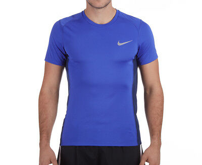 Nike Men's Dry Miller Short Sleeve Top - Paramount Blue/Binary Blue
