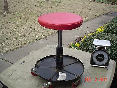 "Automotive Work Stool Adjustable Height 14"" - 19"" on Rollers (5)"