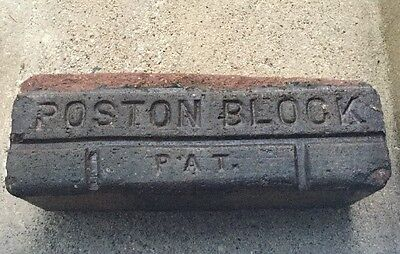 Antique Brick Paver Poston Block Pat W.G. Co Garden Decor Door Stop Brown Clay