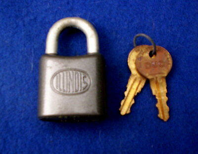 Vintage Illinois DUO Padlock, NOS in box with keys