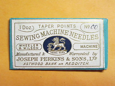 Wheeler and Wilson Sewing Machine Curved Needles size 00---Qty 12 / 1 Dozen