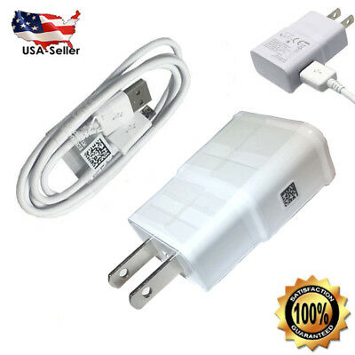 for Samsung Galaxy S7 Edge S6 Note 5 Fast Wall Charger Micro USB Charging Cable