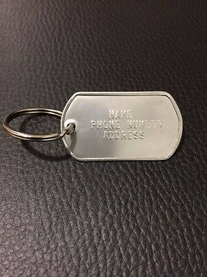Military Dog Tag Personalized Stainless Steel (MATTE/SHINY) ID Pet Tag ID Bag
