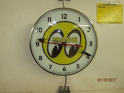 Moon Equipped Moon Eyes Racing Lighted Clock